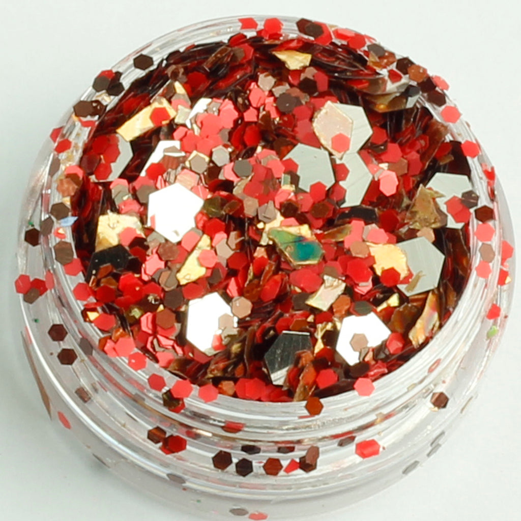 evol sleigh bells xmas face glitter mix pot