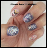 Christmas GOLD White Snowflake Tree Bauble Candy Gift  3D Nail Art Sticker