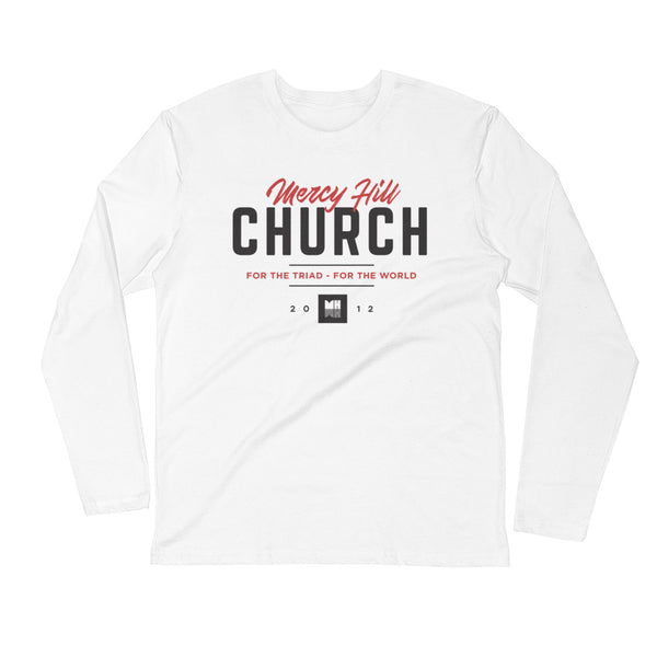 Mercy Hill Church Long Sleeve Fitted Crew