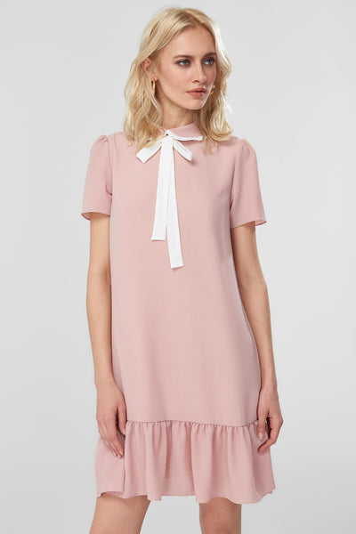 Powder Neck Detail Dress