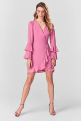 Rose Dry Frilly Cardigan Dress