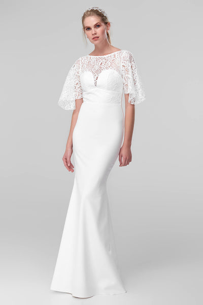 White Lace Detailed Wedding Dress