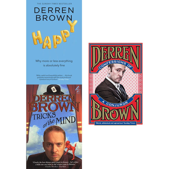 Derren brown collection 3 books set (happy, tricks of the mind, tricks of the mind)