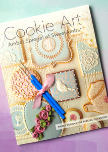 Cookie Art Book & 2 Scribe Tools - Cookie Decorating Book by Amber Spiegel