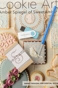 Cookie Art Book & Video Tutorials on USB Drive with Scribe Tool Bundle