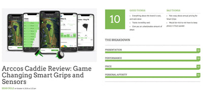 """The Single Best Golf Tech Product on the Market"" – Arccos Caddie Given a Perfect Score by Breaking Eighty"