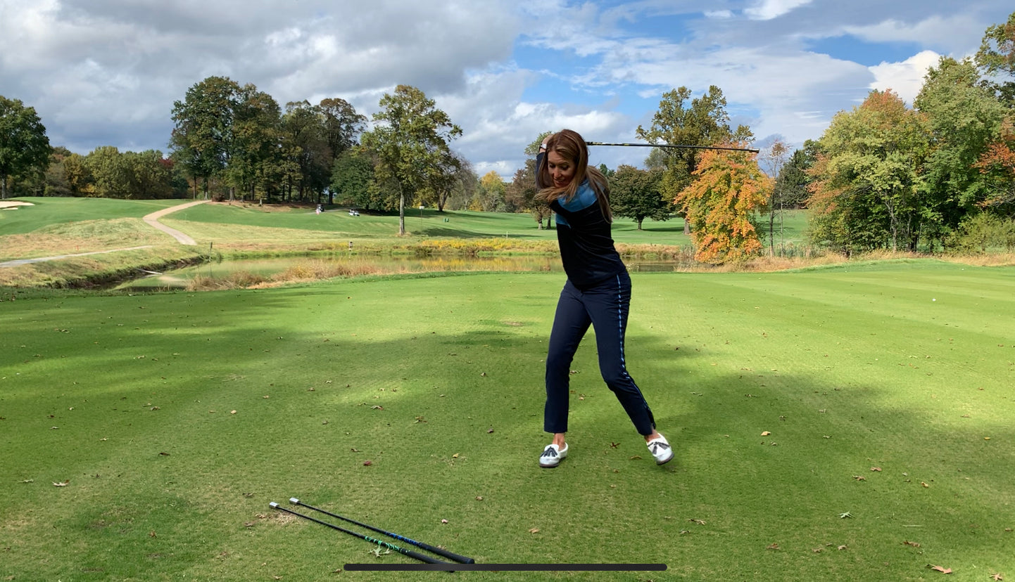 Trillium Rose swing speed drills with SuperSpeed for distance