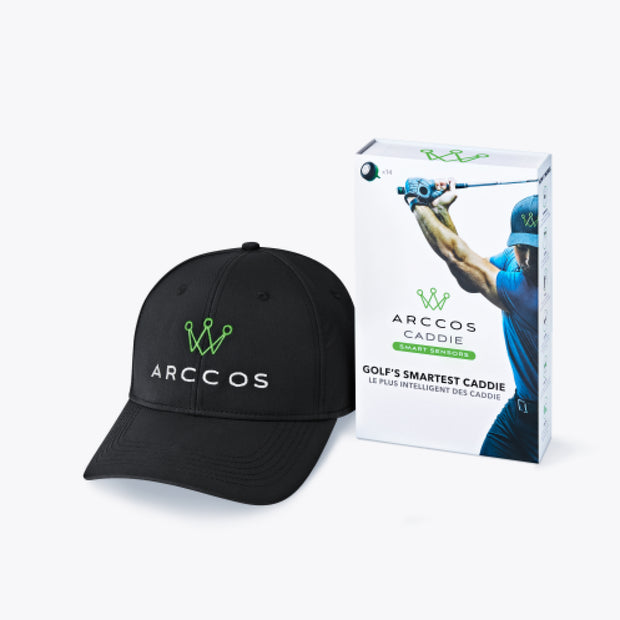 Arccos Caddie Father's Day Bundle - Black Hat