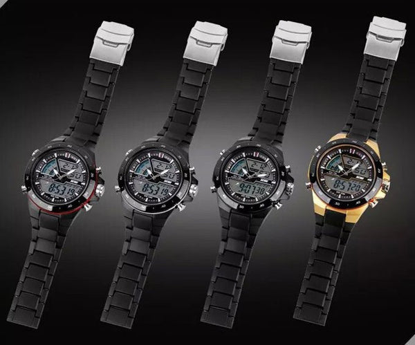 Women Sports Watches Water proof Fashion Casual Quartz Watch Digital Analog Military Multifunctional Wrist Watches