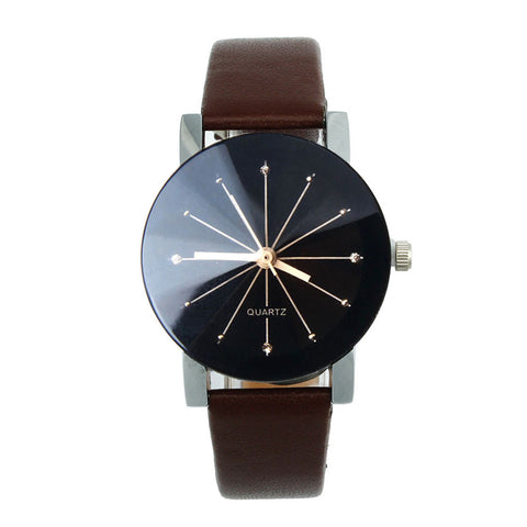 Casual Watches Women Leather Strap Bayan Kol Saat Analog Female Hour Ladies Quartz Wrist Watch