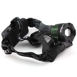 2000 Lumens XM-L T6 LED Zoomable Headlight Lamp Headlamp Light Flashlight 3-modes  (only Headlamp)