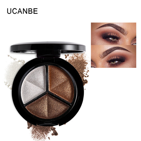 Best Smoky cosmetic set 3 colors professional natural matte eyeshadow makeup eye shadow - Best online sale store in USA