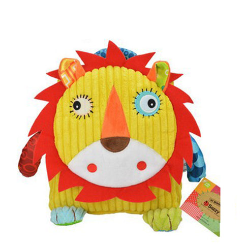 Cute Animal Figure Bag Kid Plush School Backpacks Kid Girls Boys Gifts Toy Owl Cow Frog Lion Monkey School Bag