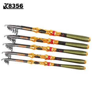 Carbon 1.8M 2.1M 2.4M 2.7M 3.0M Portable Telescopic Fishing Rod Spinning Fish Hand Fishing Tackle Sea Rod Ocean rod