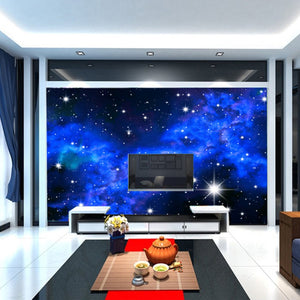3D Wallpaper Mural Star Night CloudsSky Wall Paper Background Interior Ceiling