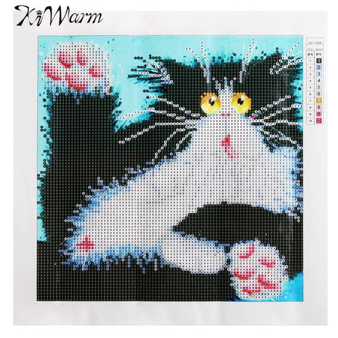 New Stylish Cute Cat Pattern Diamond Painting Cross Stitch Kit DIY Embroidery Needlework Kits Home Decor