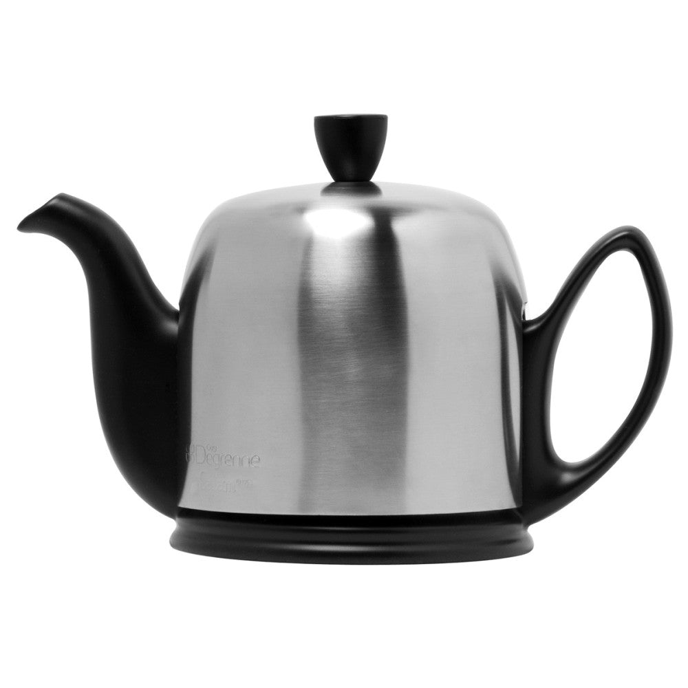 Guy Degrenne Salam  - Matte black Base with matte stainless steel cover  4 Cup Teapot