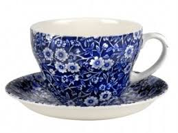 Burleigh Blue Calico Breakfast Cup & Saucer  $78.00