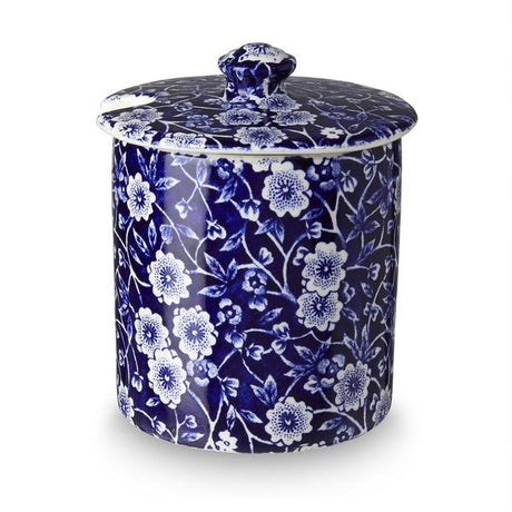 Burleigh Blue Calico Covered Sugar Pot / Jam Pot  $64.00