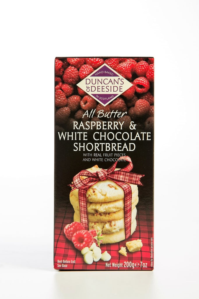 Duncan's of Deeside - All Butter Raspberry & White Chocolate SHORTBREAD