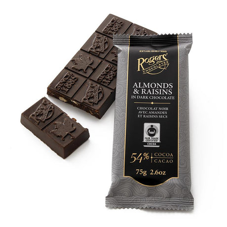 Rogers' Almonds & Raisins in Dark Chocolate Bar FALL DELIVERY ARRIVING SOON