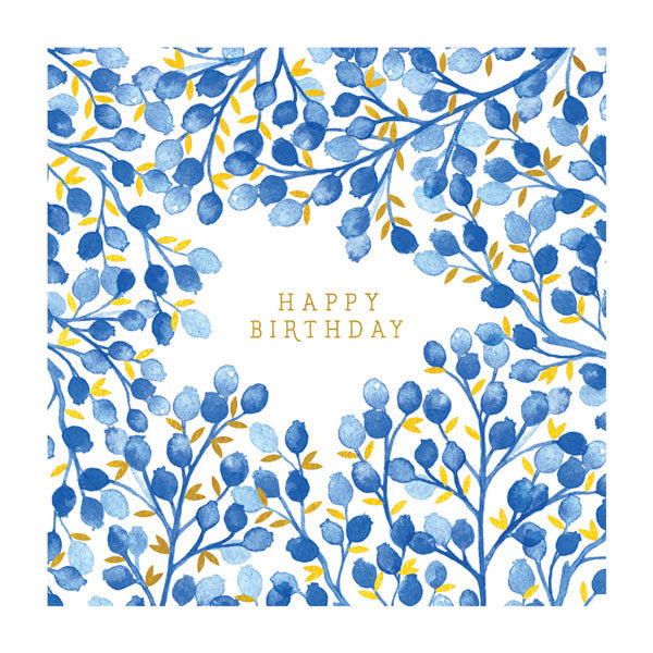 Birthday: Vintage Blue