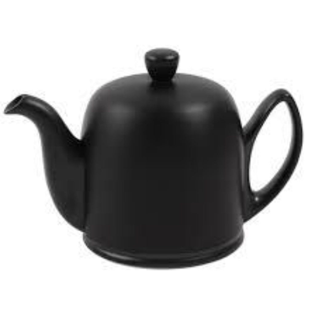 Guy Degrenne Salam  - Black Base, Black Cover  6 Cup Teapot