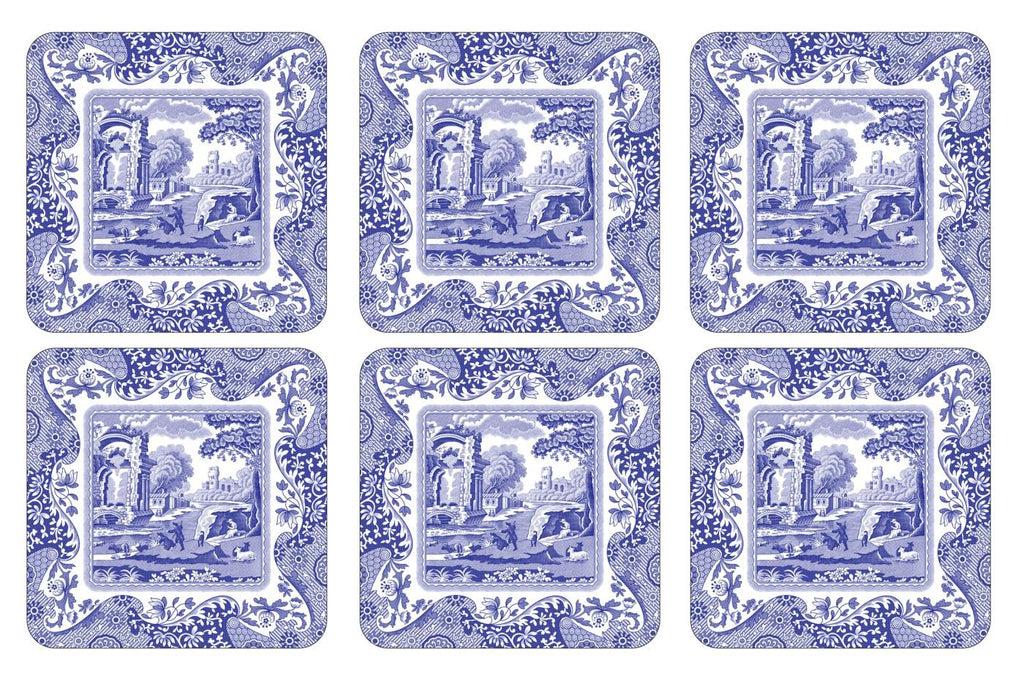 Pimpernel Blue Italian - Coaster