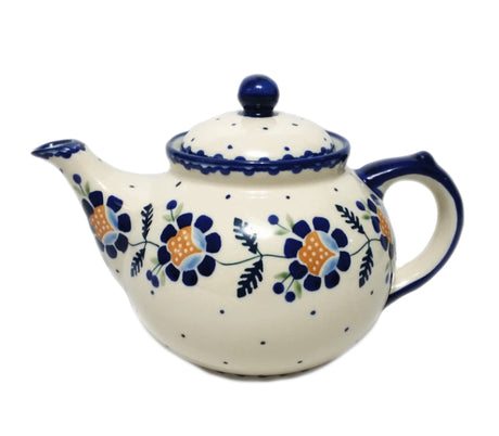 Boleslawiec Polish Pottery - Blue Daisy Afternoon Teapot