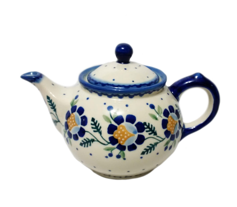 Boleslawiec Polish Pottery - Blue Daisy Morning Teapot