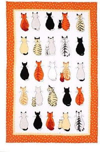Tea Towel, Cats in Waiting by Ulster Weavers