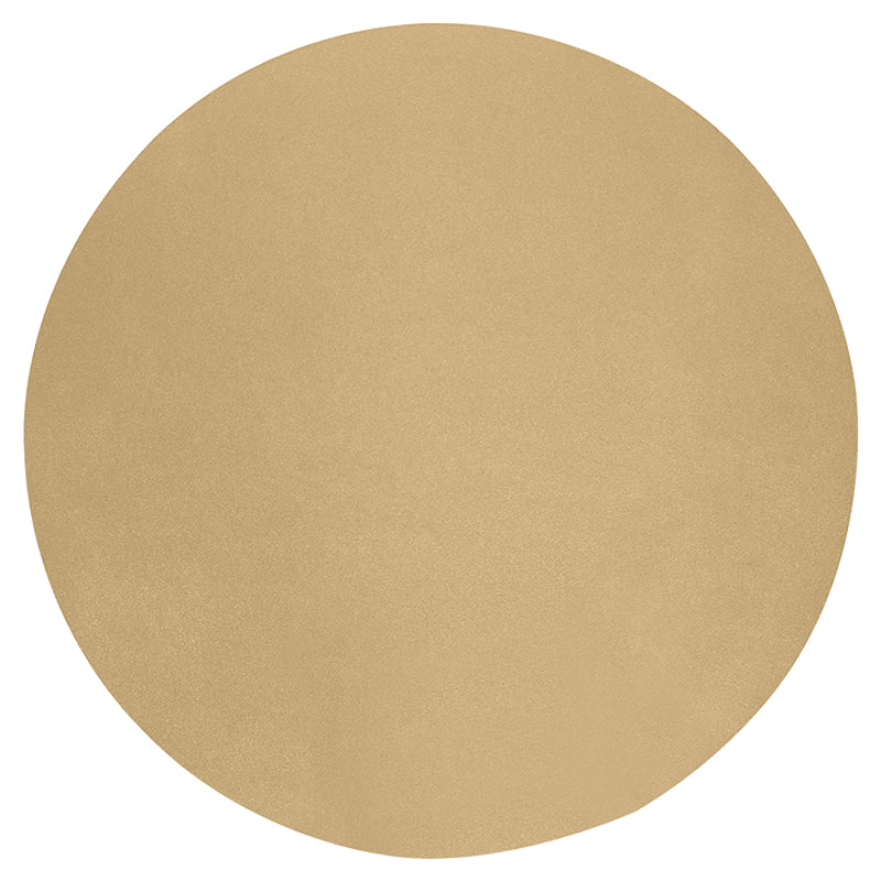 Placemat;  Champagne Round Studio Leather Collection