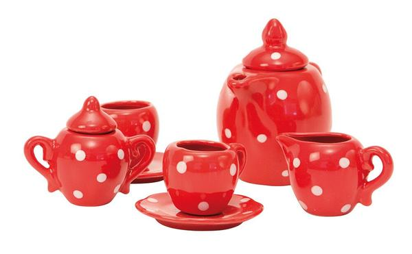 Moulin Roty Childs Tea Set Red Polka Dot