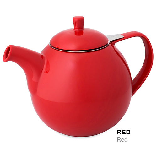 For Life Curve Teapot with infuser and lid RED