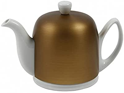 Guy Degrenne Salam  - White Base, Bronze Cover  6 Cup Teapot