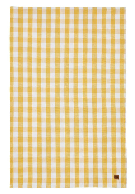 Tea Towel, Gingham Yellow by Ulster Weavers  ARRIVING SOON