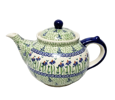 Boleslawiec Polish Pottery - Dancing Garden  Afternoon Teapot