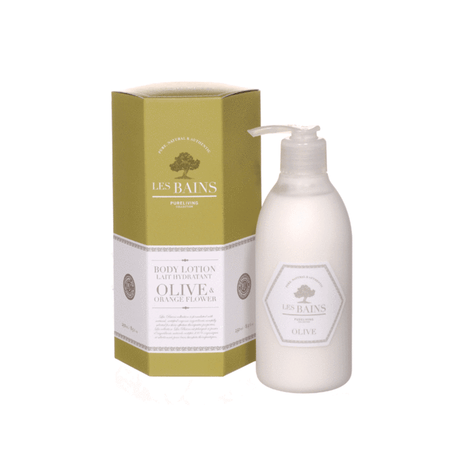 Les Bains Olive and Orange Flower Hand and Body Lotion   ARRIVING SOON