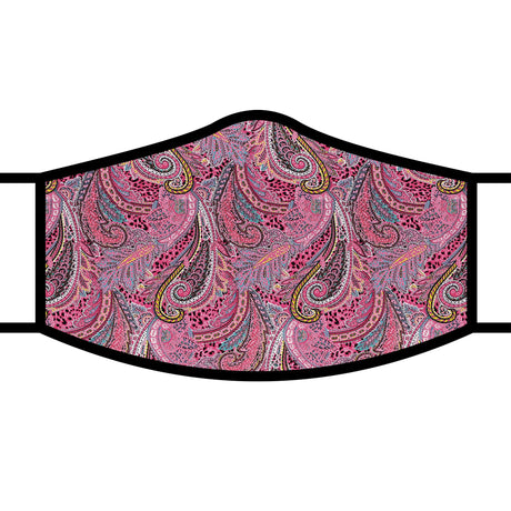 RainCaper Re-usable Face Mask;  Pink Paisley
