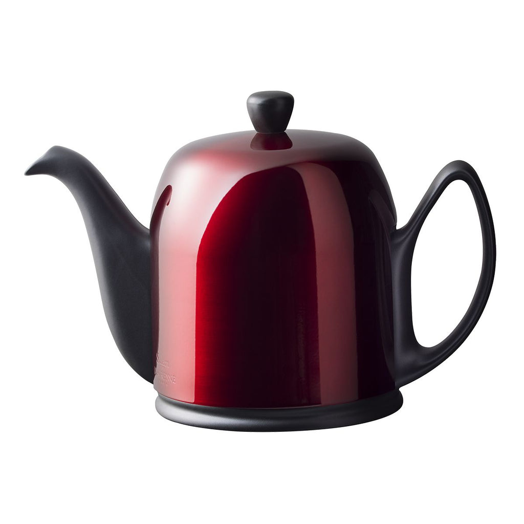 Guy Degrenne Salam  - Black Base, Pomegranate Cover  6 Cup Teapot