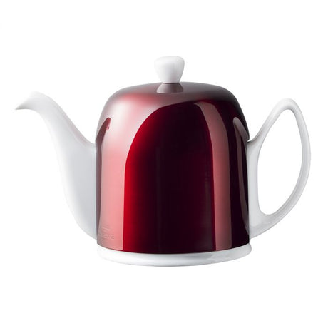 Guy Degrenne Salam  - White Base, Pomegranate Cover  6 Cup Teapot