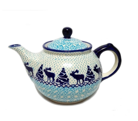 Boleslawiec Polish Pottery - Reindeer Morning Teapot
