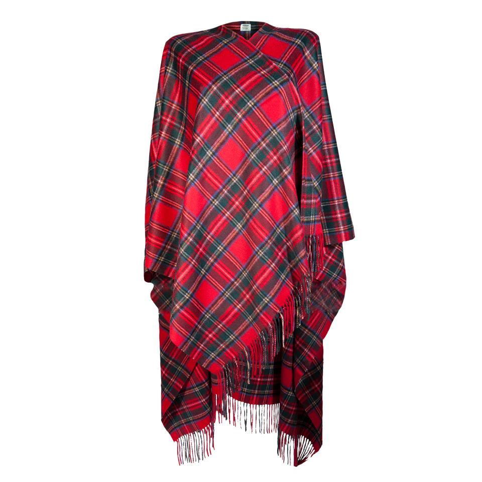 Edinburgh, Royal Stewart,  Lambswool Long Womens Cape