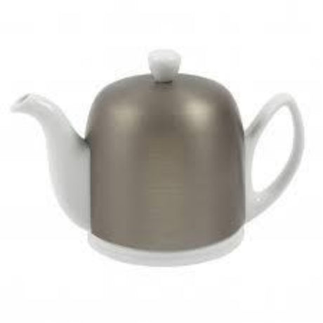 Guy Degrenne Salam 6 Cup Teapot - White Base, Zinc Cover  $210.00