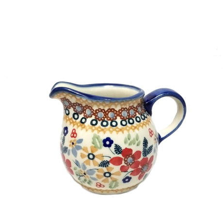 Boleslawiec Polish Pottery - Summer Garden Creamer & Sugar Bowl Set