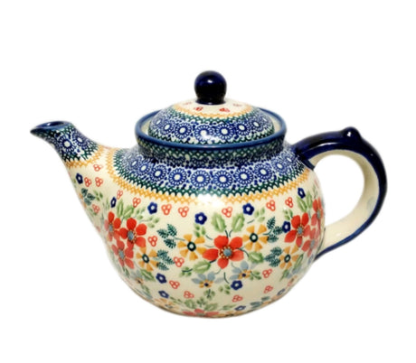 Boleslawiec Polish Pottery - Summer Garden  Afternoon Teapot