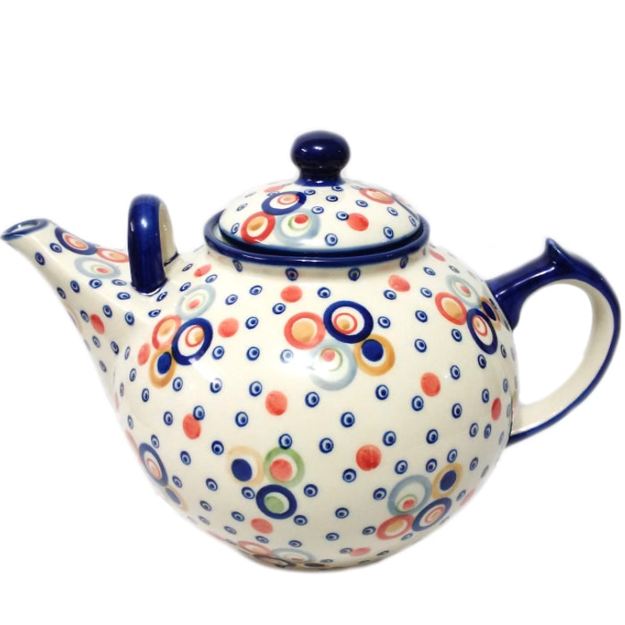 Boleslawiec Polish Pottery - Happy Bubble Family Teapot