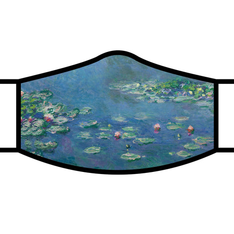 RainCaper Re-usable Face Mask;  Claude Monet Water Lilies