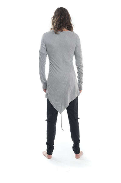 grey top,t shirt, long sleeve shirt, bamboo, cotton, dark fashion, avantgarde