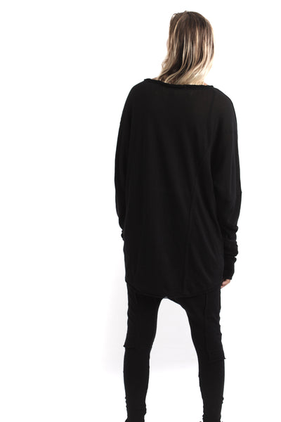 Nordic design, scandinavian design, danish design, black cotton, cotton jumper, luxury cotton jersey, cotton t shirt, fine black cotton, oversize cotton top, oversize